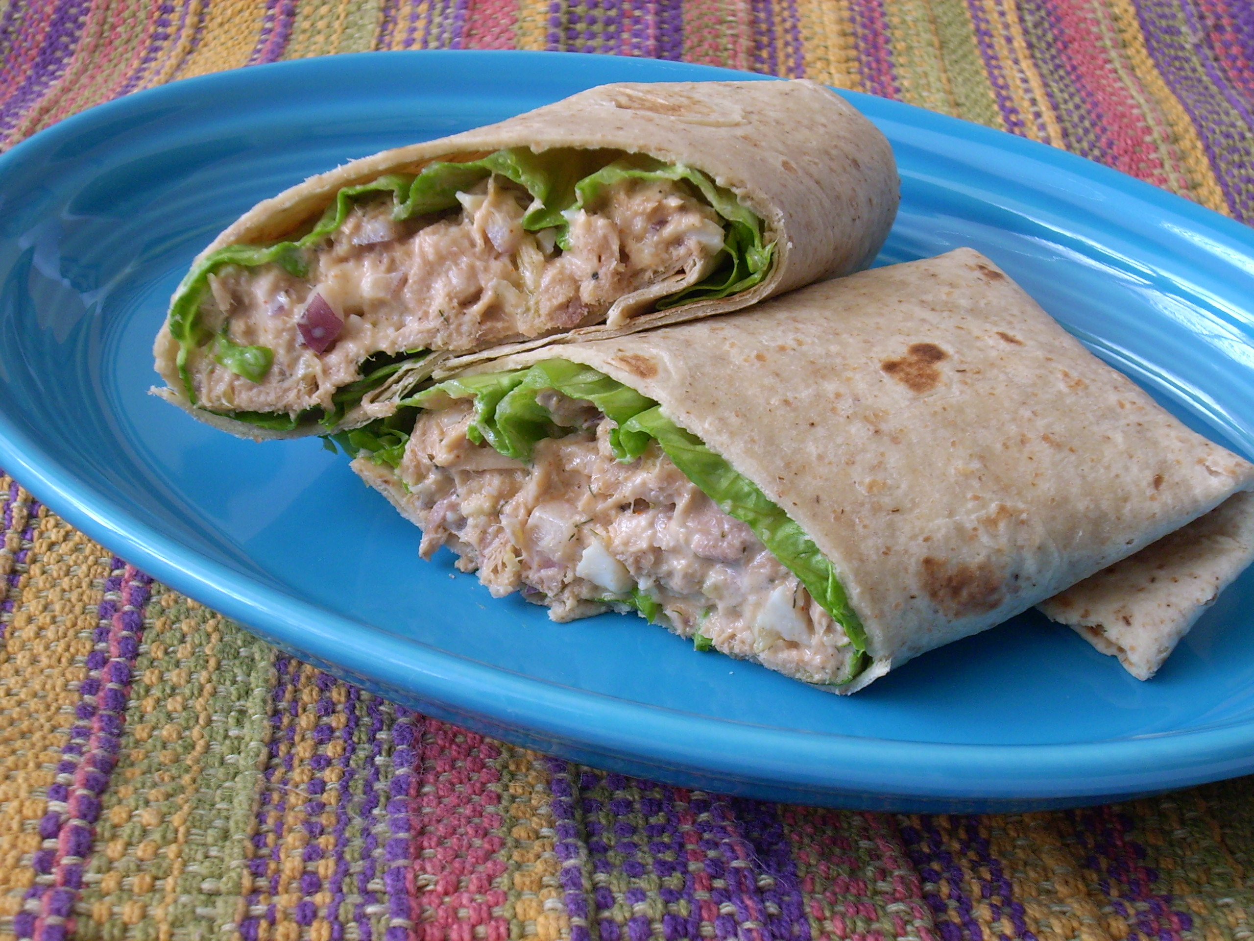 Tuna Salad Wrap - The Texas Peach