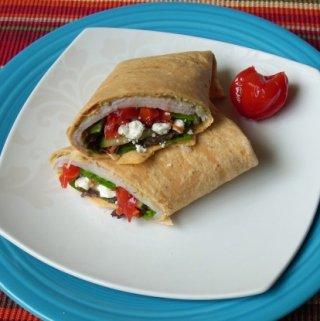 Mediterranean Turkey Wrap