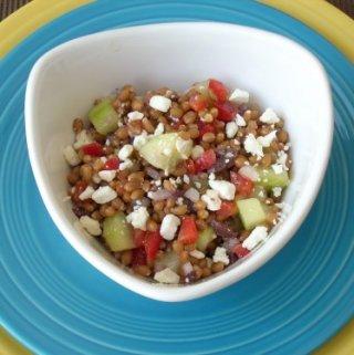 Mediterranean Wheat Berry Salad