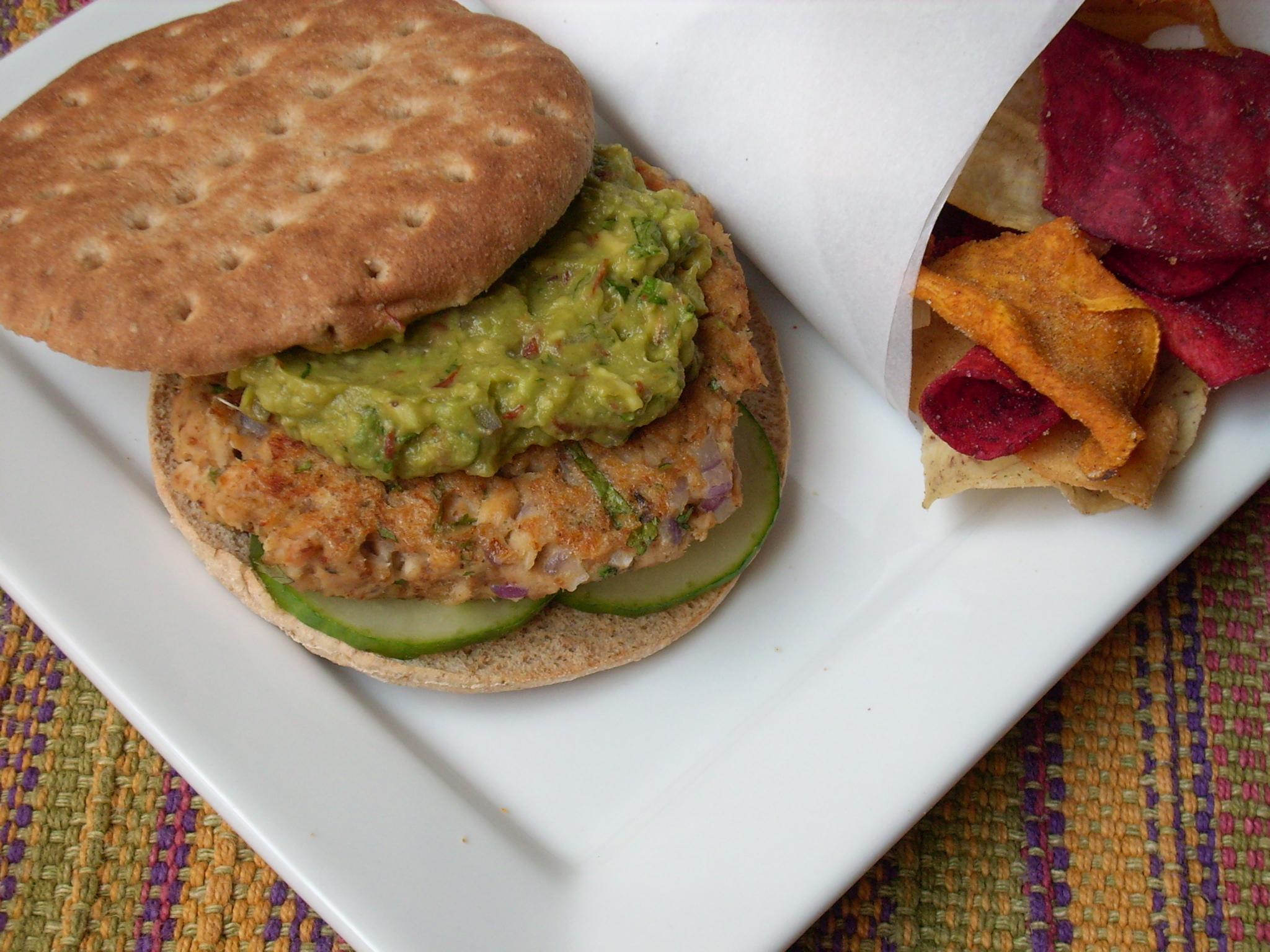 Salmon Burgers With Spicy Guacamole - The Texas PeachThe Texas Peach