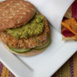 Salmon Burgers with Guacamole