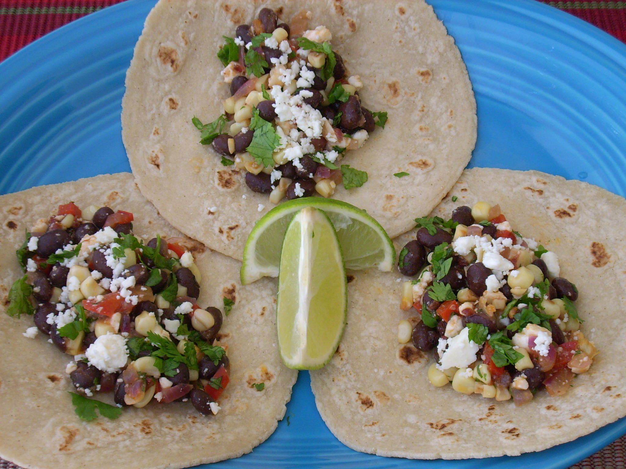 Spicy Black Bean and Corn Tacos - The Texas Peach
