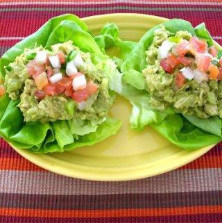 Avocado Chicken Salad in Lettuce Cups