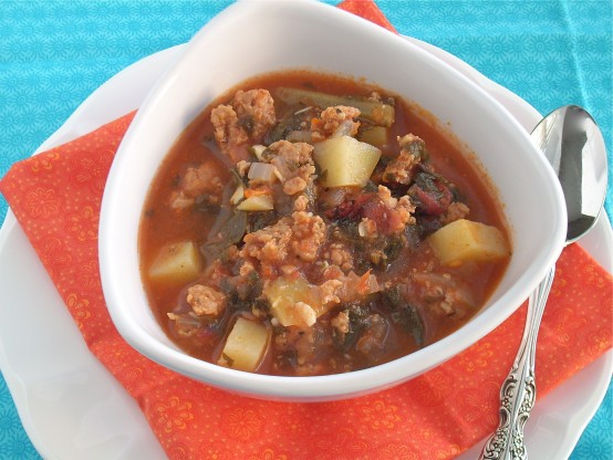 Italian Sausage, Kale and Potato Soup - The Texas PeachThe Texas Peach