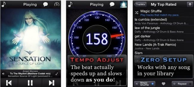 TrailMix app screenshots