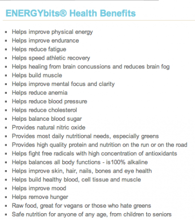 energybits health benefits