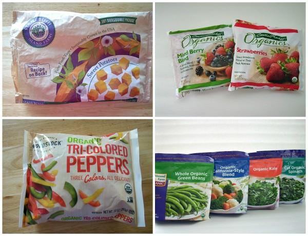 frozen fruits and veggies