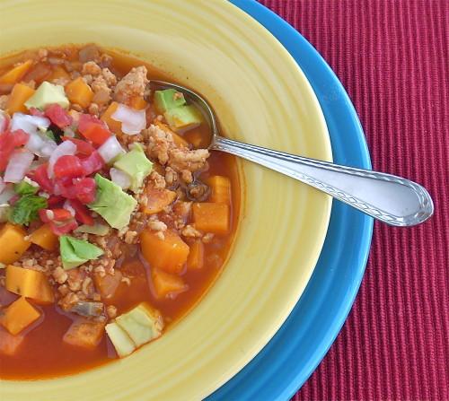 chicken sweet potato and mushroom chili