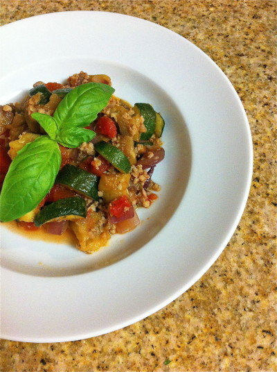 Roasted Ratatouille with Sausage