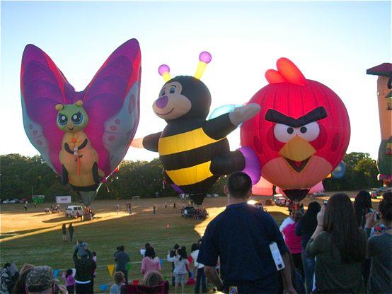 Hot air balloons -Plano Balloon Festival