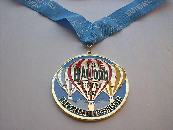 Plano Balloon Festival Half Medal