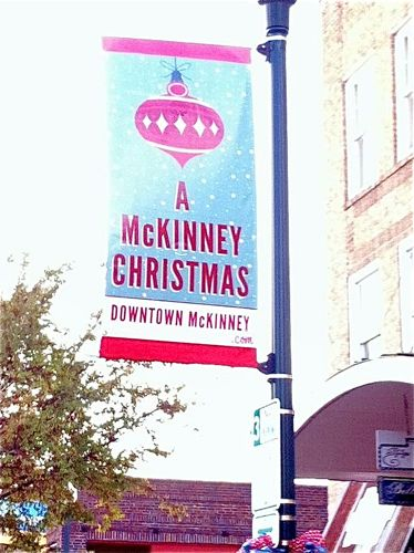 A McKinney Christmas sign