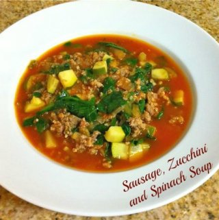 Sausage, Zucchini and Spinach Soup