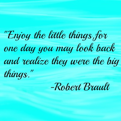 Enjoy little things quote