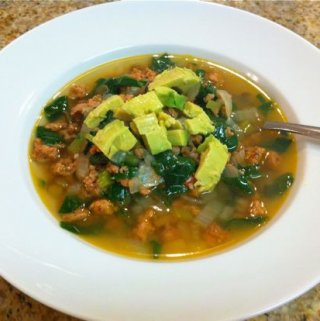 Sausage, Spinach and Lentil Soup