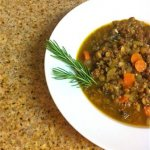 Beef Lentil Soup with Rosemary