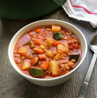 Italian Sausage Soup with Potatoes and Zucchini