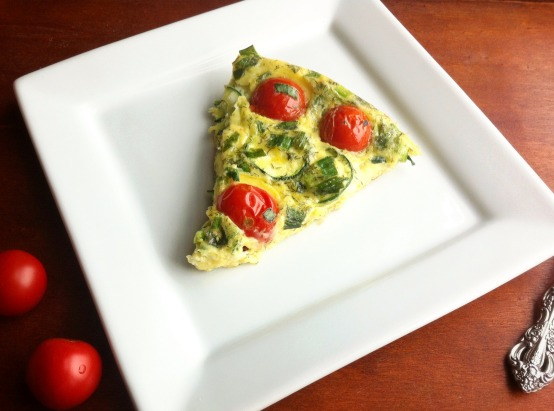 Zucchini, Tomato and Scallion Baked Frittata