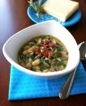 White Bean, Potato and Spinach Soup