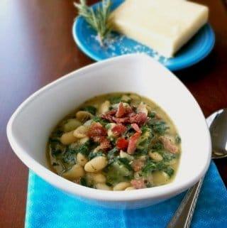 White Bean Potato and Spinach Soup