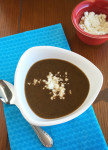 Black Bean Soup with Peppers and Feta