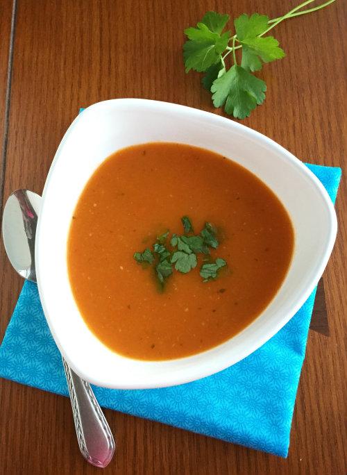 Smokey Red Pepper and Potato Soup