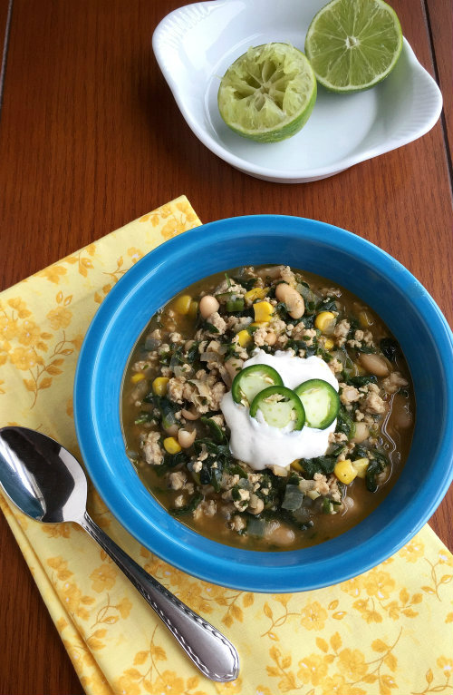 Mexican White Bean Soup with Lime Sour Cream