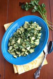 Sauteed Zucchini with Poblano Peppers