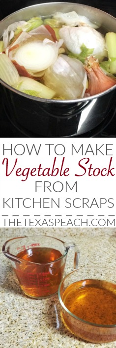 Vegetable Stock Recipe from Kitchen Scraps