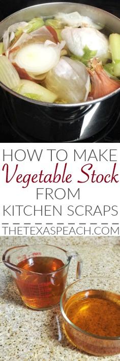 Vegetable Stock Recipe from Kitchen Scraps