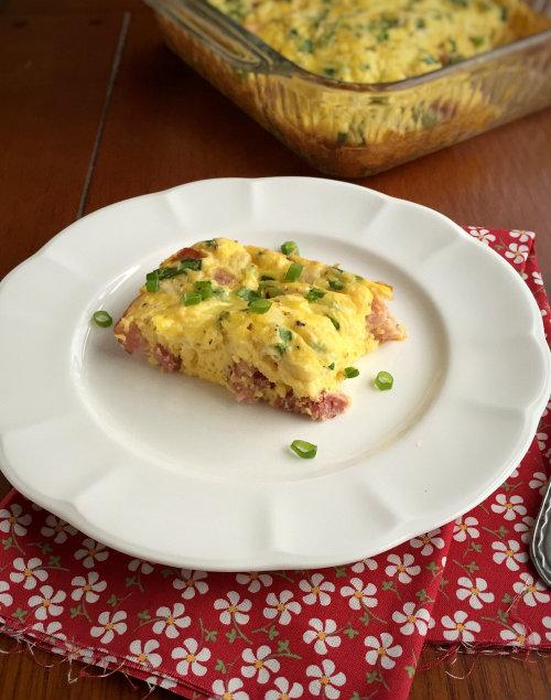 Ham and Mozzarella Egg Bake
