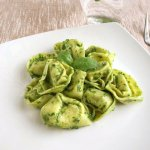 Cheese Tortellin with Spinach Basil Pesto