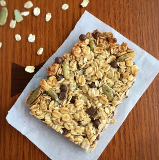 Oatmeal Pumpkin Seed Chocolate Energy Bars