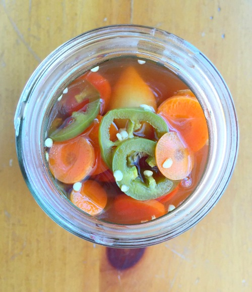 PIckled Jalapenos and Carrots