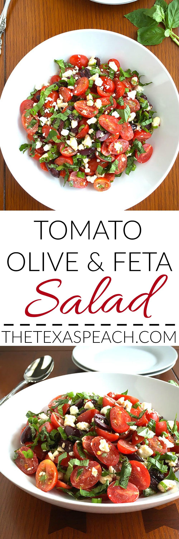 Tomato Olive Feta Salad