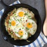 Cheesy Hash Brown Eggs