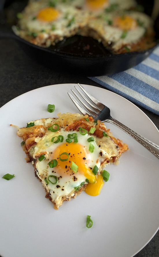 Cheesy Hash-Brown Eggs