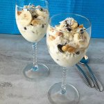 Cottage Cheese Banana and Coconut Parfaits