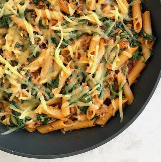 Penne with Sausage and Spinach (One-Skillet!)
