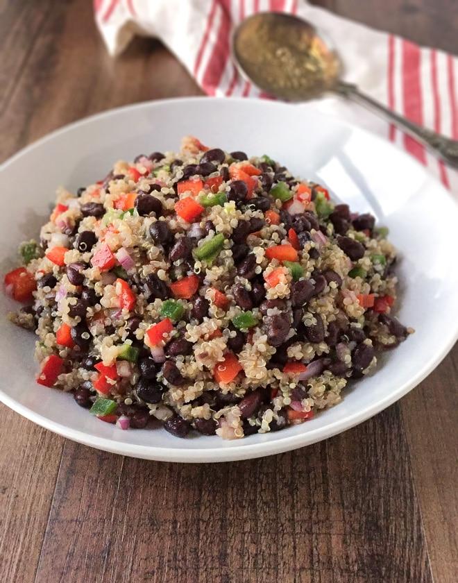 Spicy Quinoa and Black Bean Salad