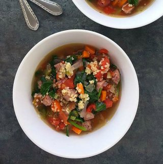 Italian Sausage Soup with Quinoa and Spinach