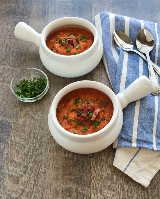Pumpkin Tomato-Soup with Bacon