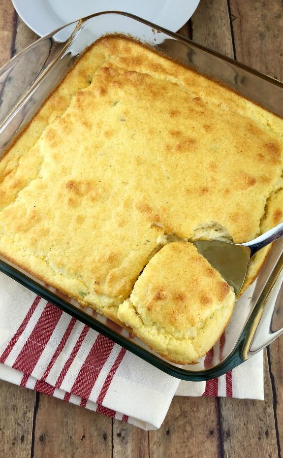 Smoked Mozzarella and Corn Spoon Bread