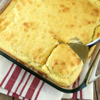 Smoked Mozzarella Corn Spoon Bread