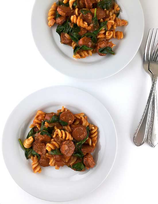 Andouille Sausage and Pasta Skillet