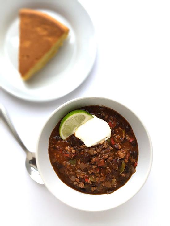Weeknight Chicken and Black Bean Chili