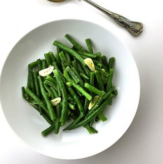 Super Tender Green Beans with Scallions and Garlic