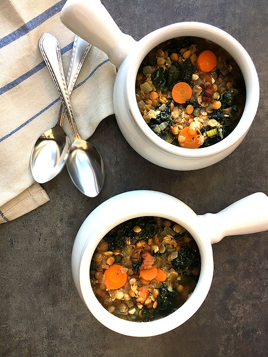 Lentil Soup with Pancetta and Kale
