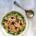 Tuna Cannellini Bean Salad with Parmesan Garlic Dressing