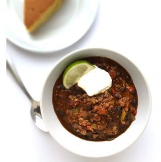 Weeknight Chicken and Black Bean Chili